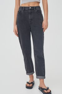 PULL&BEAR - MOM - Jeans relaxed fit - black - 0