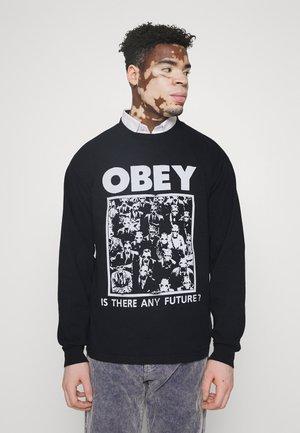 IS THERE ANY FUTURE - Pitkähihainen paita - off black