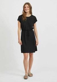 Vila - VIMOONEY STRING - Jersey dress - black - 1