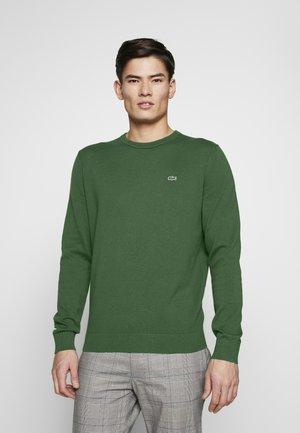 Sweter - vert/marine farine