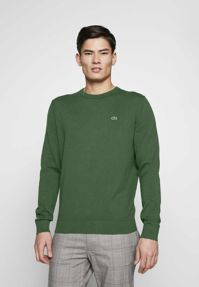 Pullover - vert/marine farine