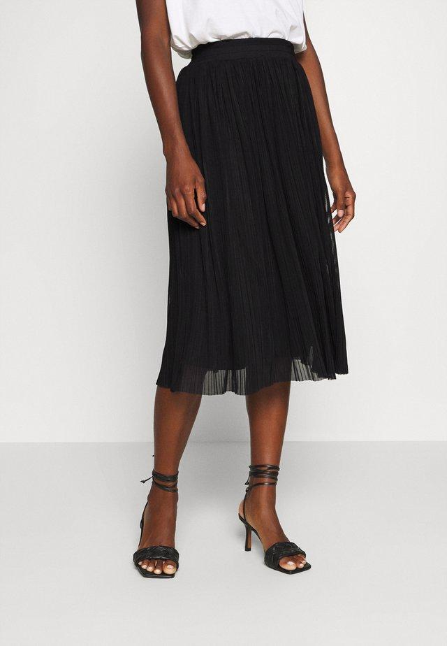 Plisse mesh mini skirt - A-linjainen hame - black
