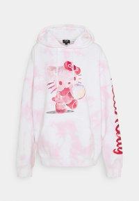 NEW girl ORDER - HELLO BUBBLE TIE DYE HOODIE - Sweatshirt - pink - 4
