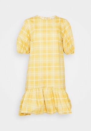 CHECK MINI - Denní šaty - yellow