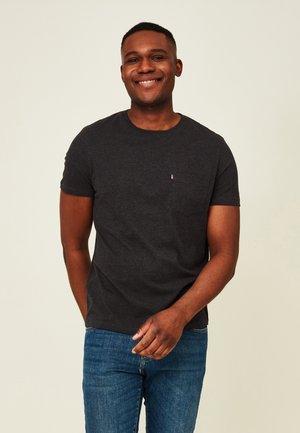 TRAVIS ORGANIC TEE - T-shirt basic - dark gray melange