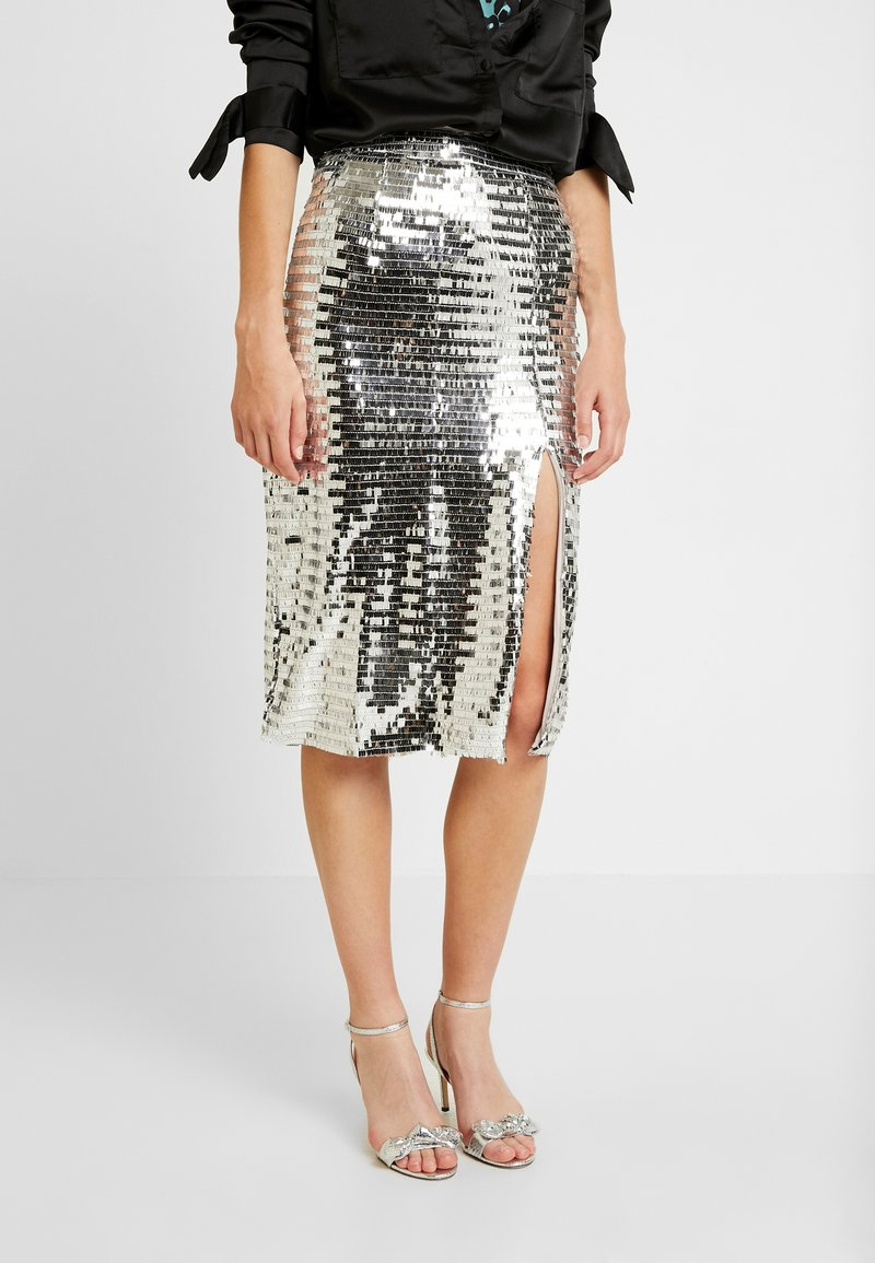 Glamorous - A-snit nederdel/ A-formede nederdele - silver