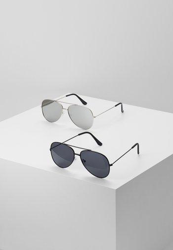 SUNGLASSES 2 PACK - Sunglasses - black/silver-coloured