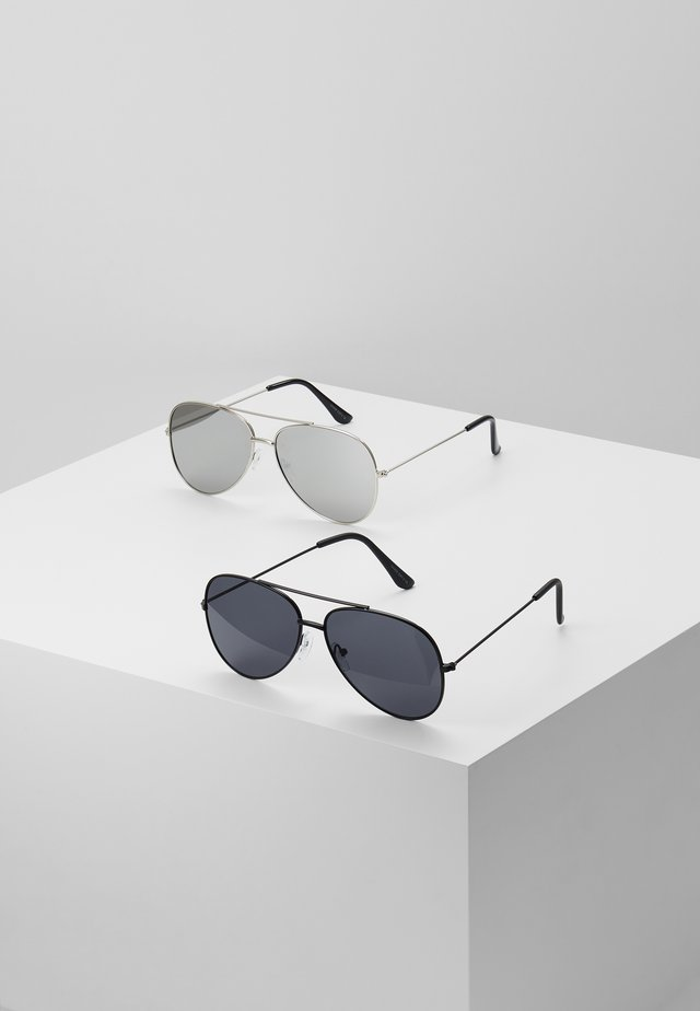 SUNGLASSES 2 PACK - Zonnebril - black/silver-coloured