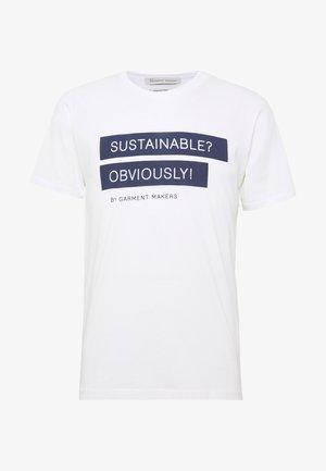 UNISEX RAY - Print T-shirt - white