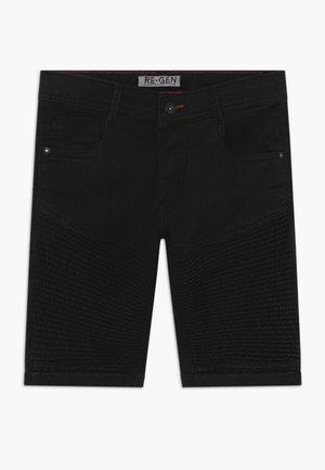 TEEN BOYS BERMUDA - Jeansshort - black
