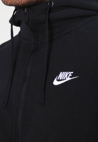 Nike Sportswear - CLUB FULL ZIP HOODIE FRENCH TERRY - Sweatjacke - black/white - 3