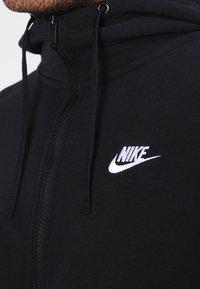 Nike Sportswear - CLUB FULL ZIP HOODIE FRENCH TERRY - Sweatjakke /Træningstrøjer - black/white - 3