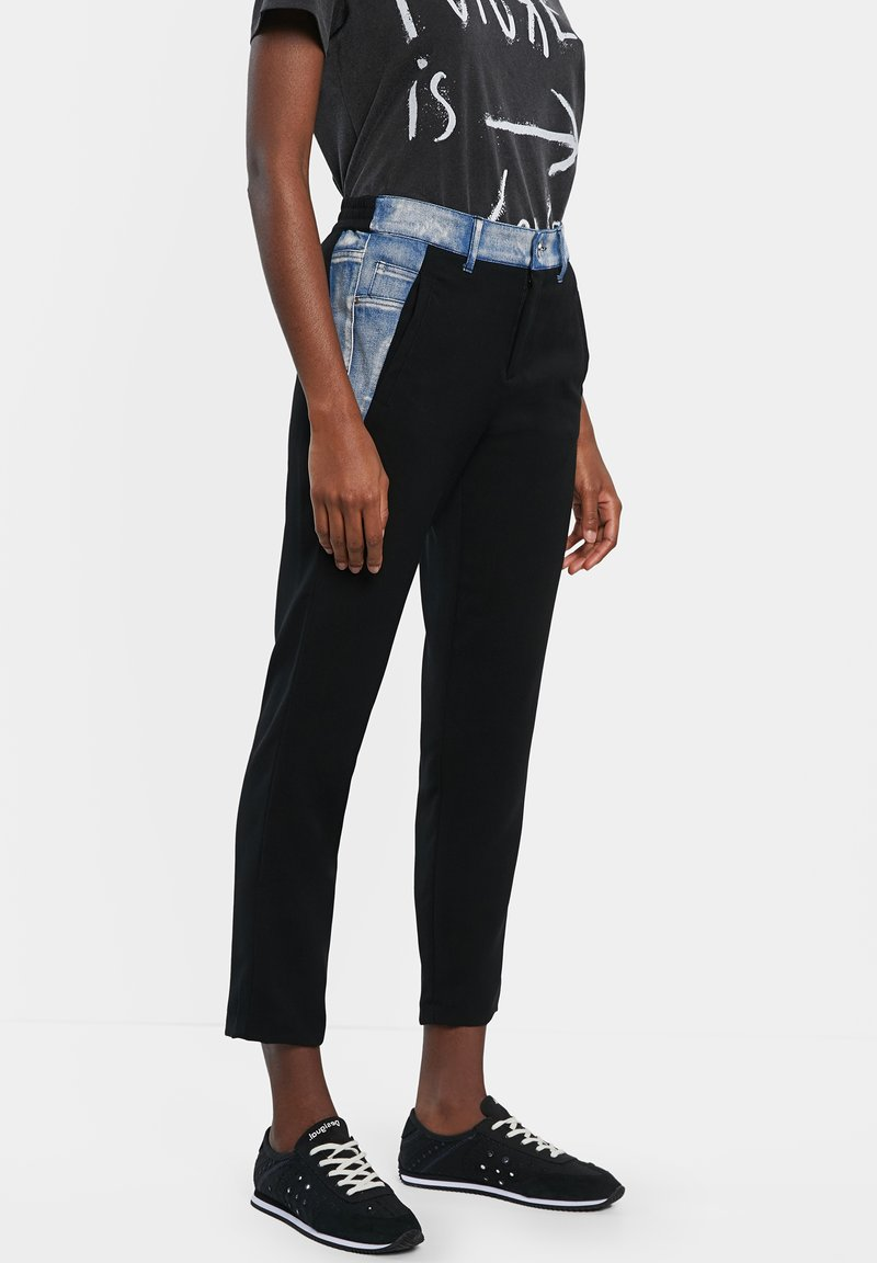 Desigual - Trousers - black