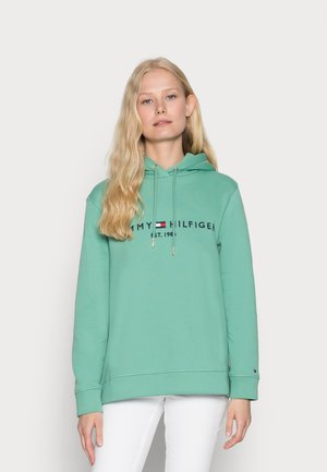 TH ESS HILFIGER HOODIE LS - Hoodie - frosted evergreen