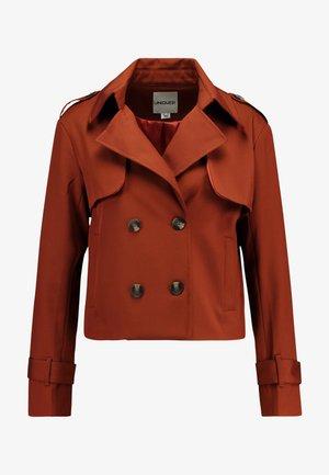 HEAVY SHORT TRENCH COAT - Lett jakke - rust