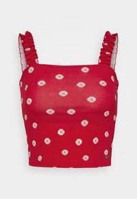 Hollister Co. - RUFFLE STRAP CAMI - Top - red - 4