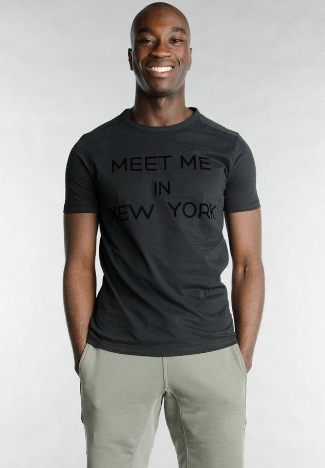 Print T-shirt - 1001 black