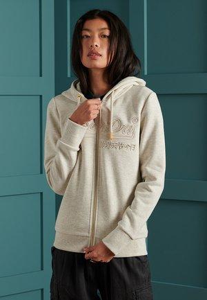 VINTAGE LOGO TONAL EMBROIDERED  - Zip-up hoodie - mcqueen marl