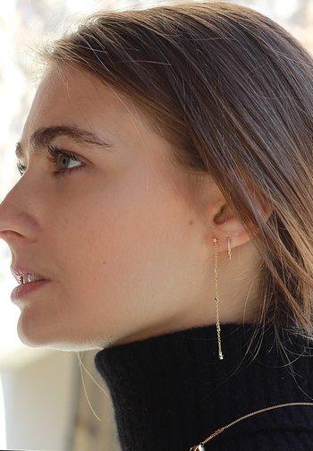 STAR LONG CHAIN  - Earrings - oro