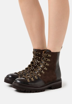 NANETTE - Lace-up ankle boots - dark brown