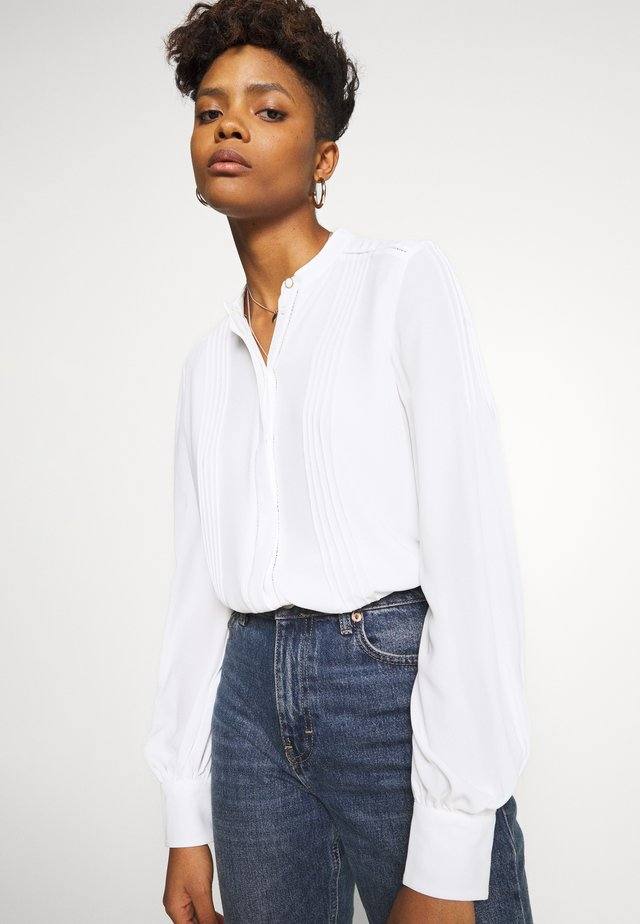 PINTUCK - Button-down blouse - porcelain