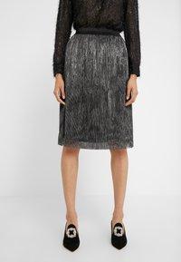 Bruuns Bazaar - METALLIC DARIANE CECILIE SKIRT - A-line skirt - dark silver - 0