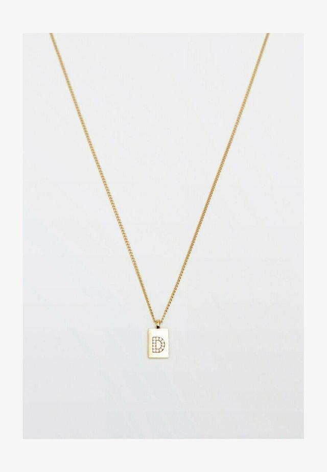 MIT BUCHSTABE D  - Necklace - gold