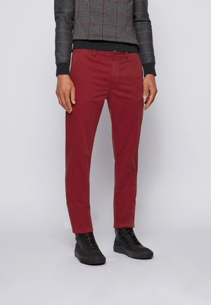 TABER D - Chinos - dark red