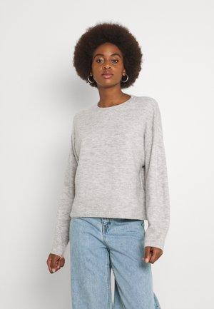 VMPLAZA BOXY - Stickad tröja - light grey melange