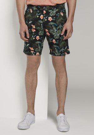 TOM TAILOR DENIM HOSEN & CHINO GEMUSTERTE CHINO SHORTS - Shorts - colorful botanical print
