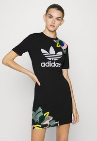 adidas Originals - TEE DRESS - Jerseykjoler - black - 0