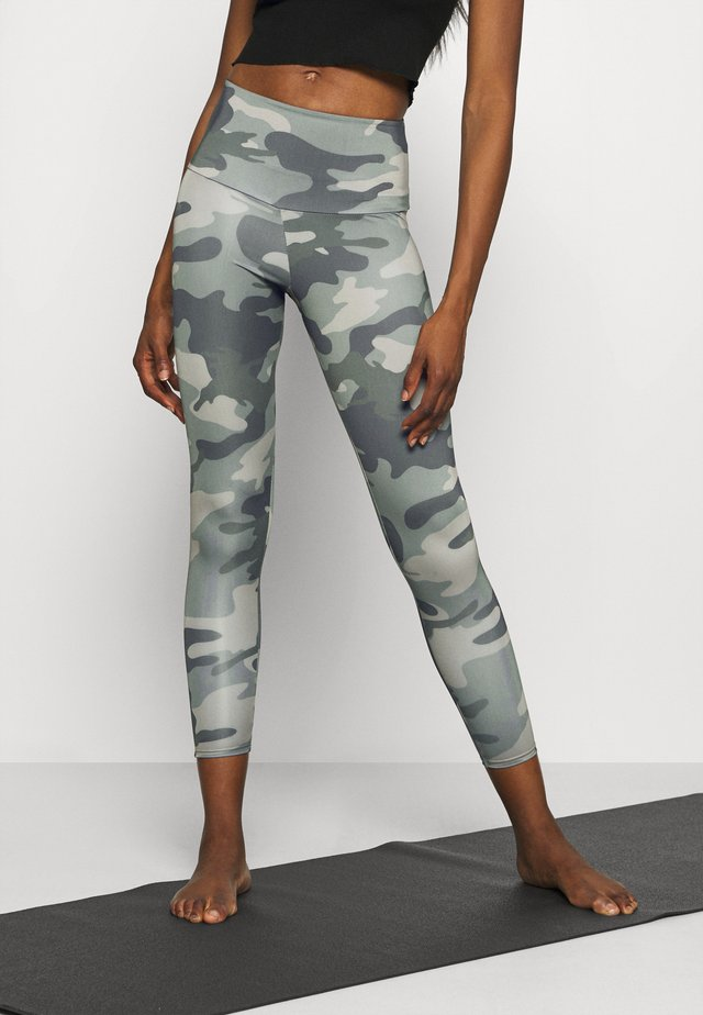HIGH BASIC MIDI - Legging - olive