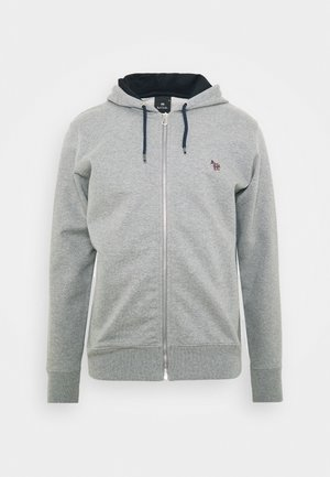 MENS ZIP HOODY - Felpa aperta - mottled grey