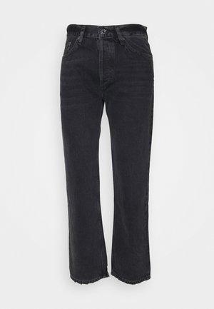 LANA CROP - Straight leg jeans - rhyme washed black