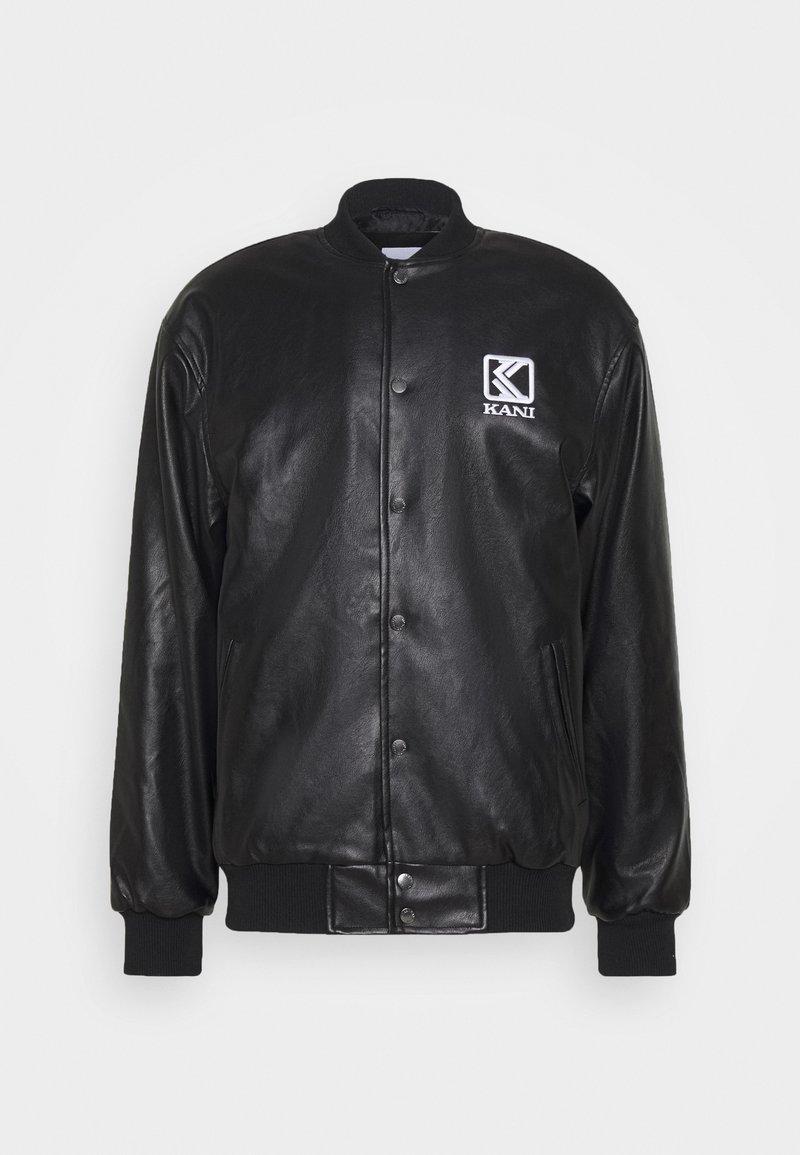 Karl Kani - OG COLLEGE JACKET UNISEX - Faux leather jacket - black/yellow