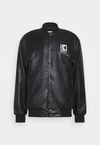 OG COLLEGE JACKET UNISEX - Faux leather jacket - black/yellow