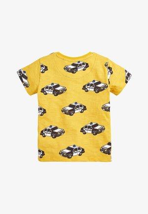 YELLOW SHORT SLEEVE POLICE CAR T-SHIRT (3MTHS-7YRS) - Print T-shirt - yellow