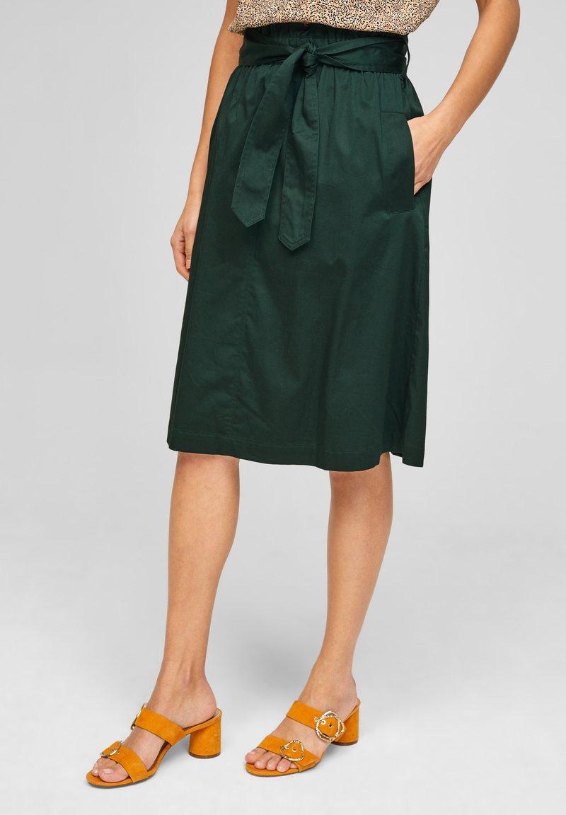 s.Oliver BLACK LABEL - A-line skirt - leaf green