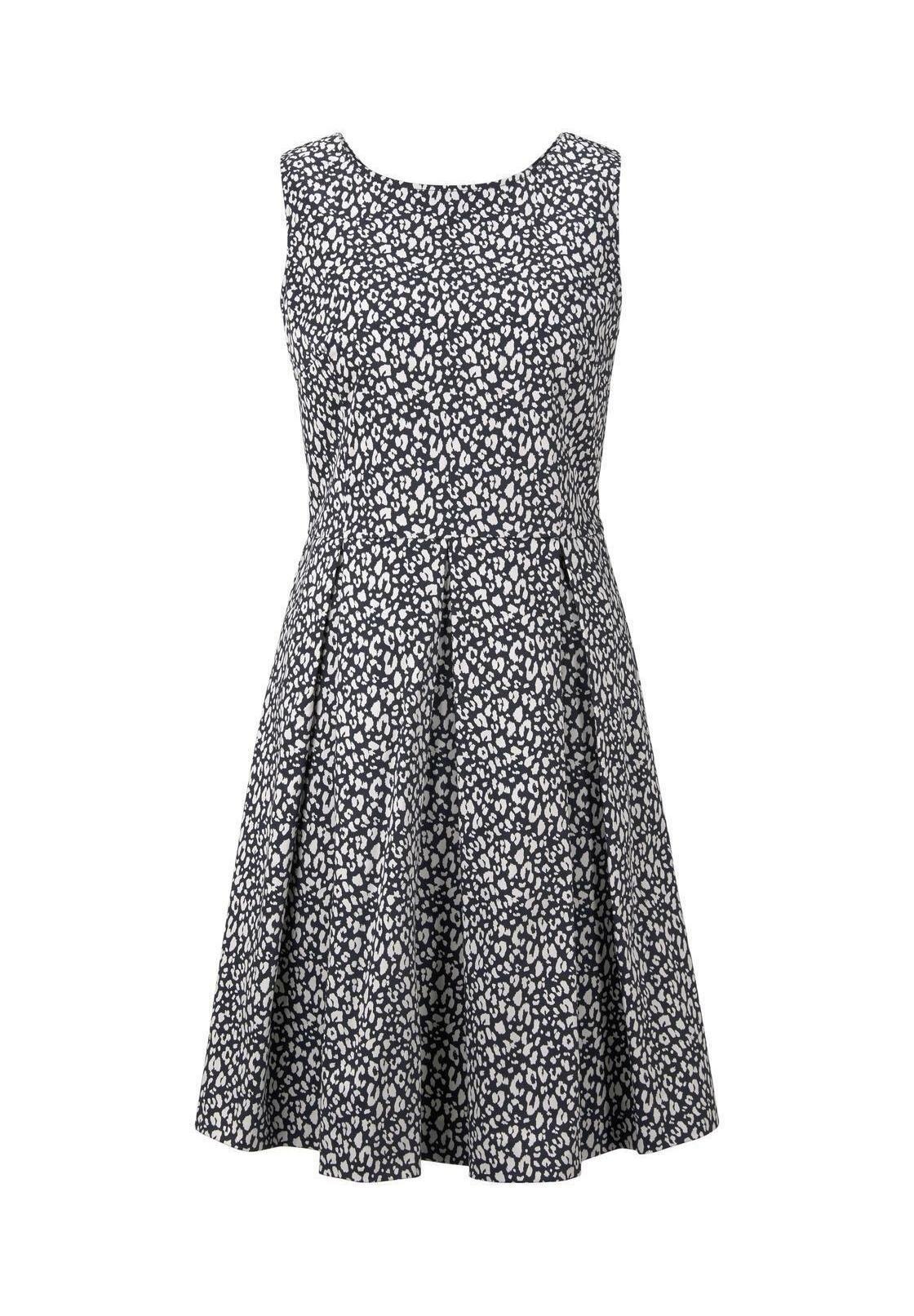 TOM TAILOR DRESS FESTIVE FEMININE - Hverdagskjoler - navy small leo design - Damer Kjoler cHH7i