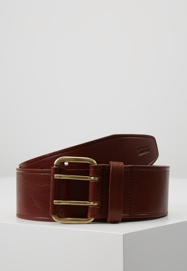 WIDE BUCKLE DOUBLE HOLE - Vyö - pecan