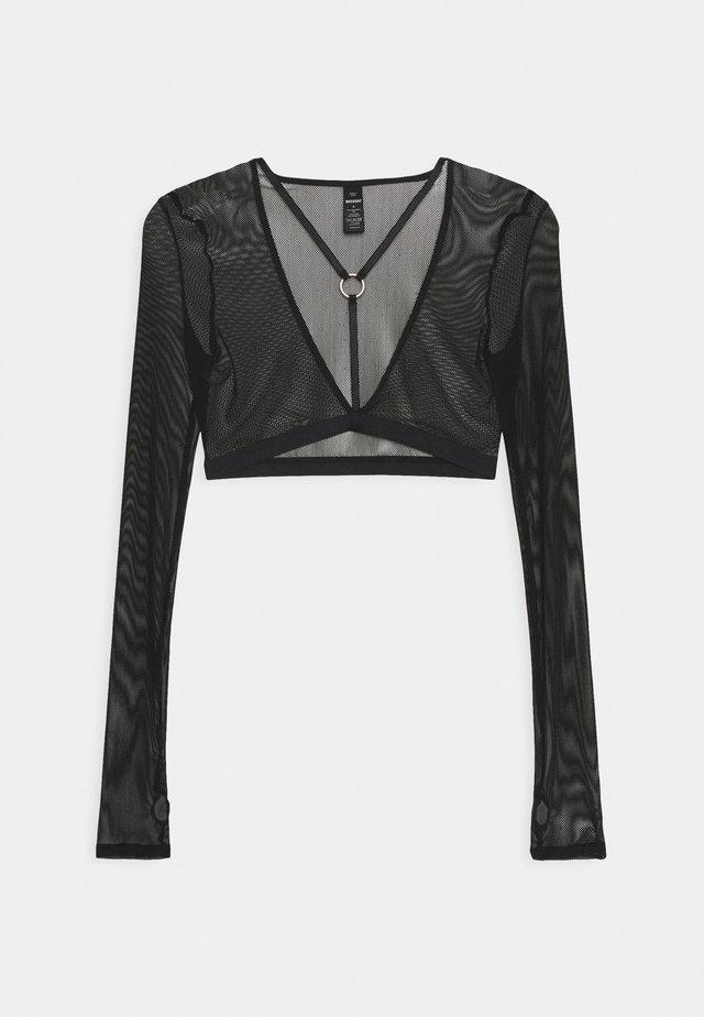JOY LONGSLEEVE BRA - Koszulka do spania - black