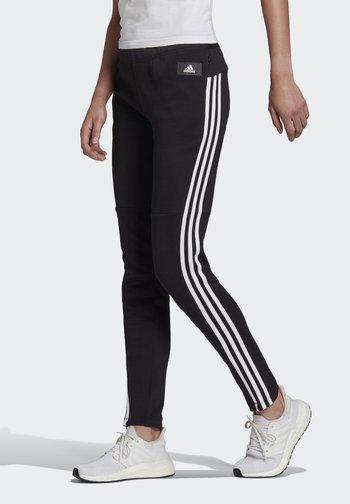 ADIDAS SPORTSWEAR 3-STRIPES SKINNY PANTS - Joggebukse - black/white