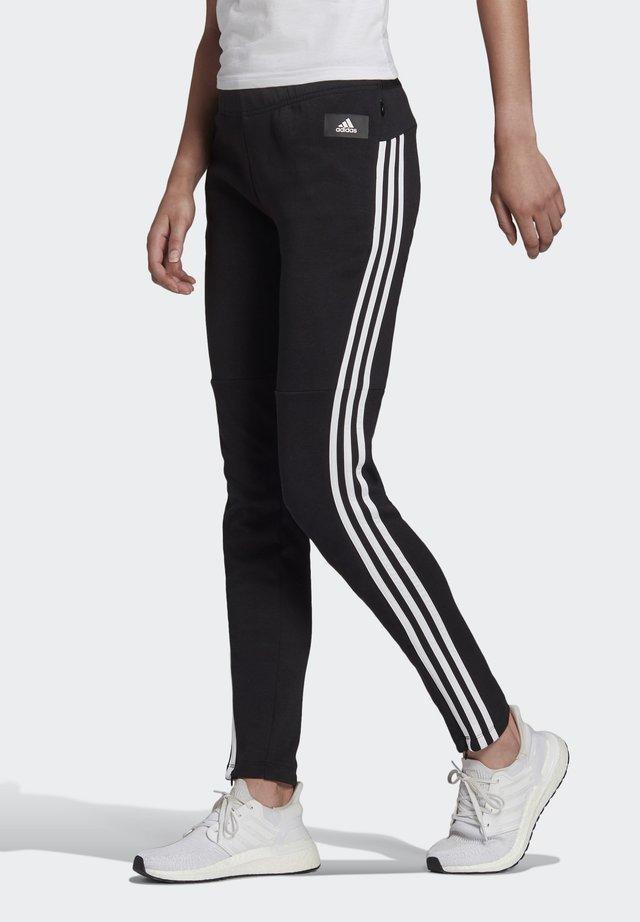 ADIDAS SPORTSWEAR 3-STRIPES SKINNY PANTS - Tracksuit bottoms - black/white
