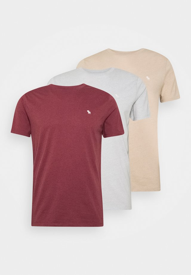 FALL SEASONAL 3PACK  - T-shirts med print - red/grey/gold