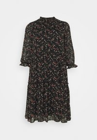 Vero Moda Curve - VMSYLVIA CALF DRESS - Day dress - black/rose flowers - 0