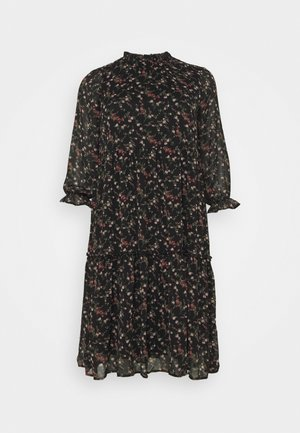 VMSYLVIA CALF DRESS - Vapaa-ajan mekko - black/rose flowers