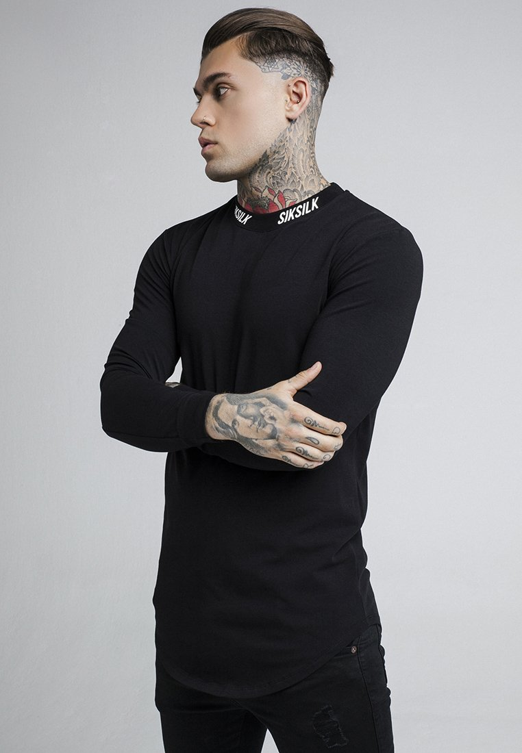 SIKSILK - TURTLE NECK - Camiseta de manga larga - black