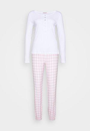 Pyžamová sada - pink/white