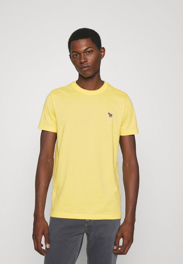 ZEBRA BADGE UNISEX - Jednoduché triko - yellow