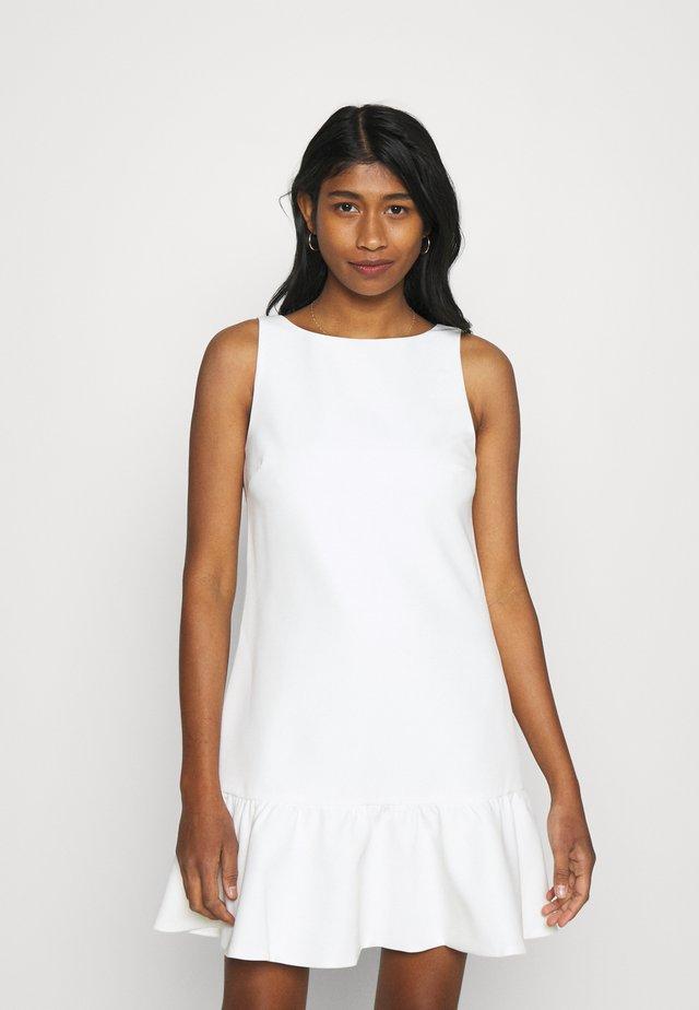 PIXIE A LINE FRILL MINI DRESS - Robe d'été - porcelain